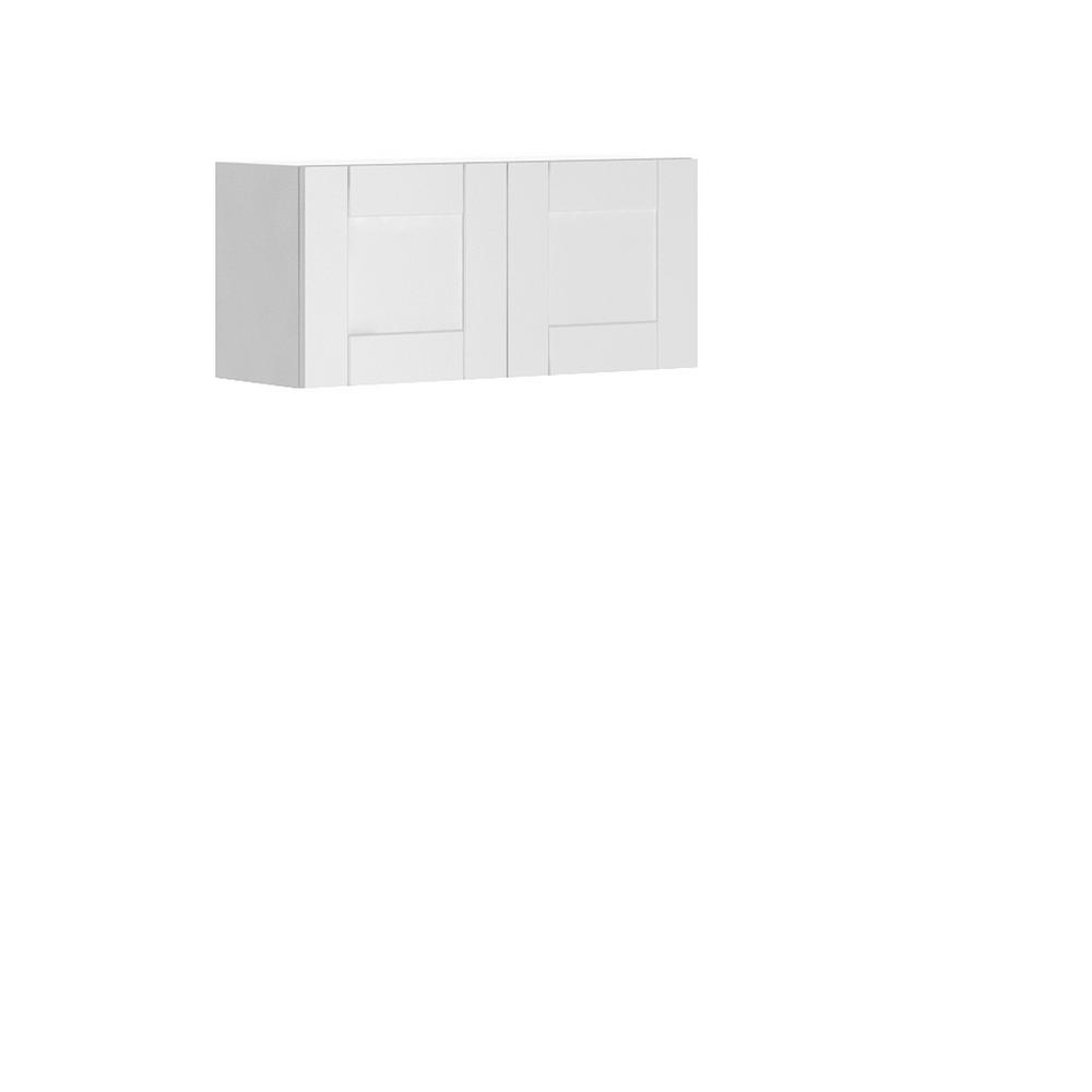 Dublin Ready to Assemble 33x15x12.5 in. Oxford Wall Thermofoil Cabinet with