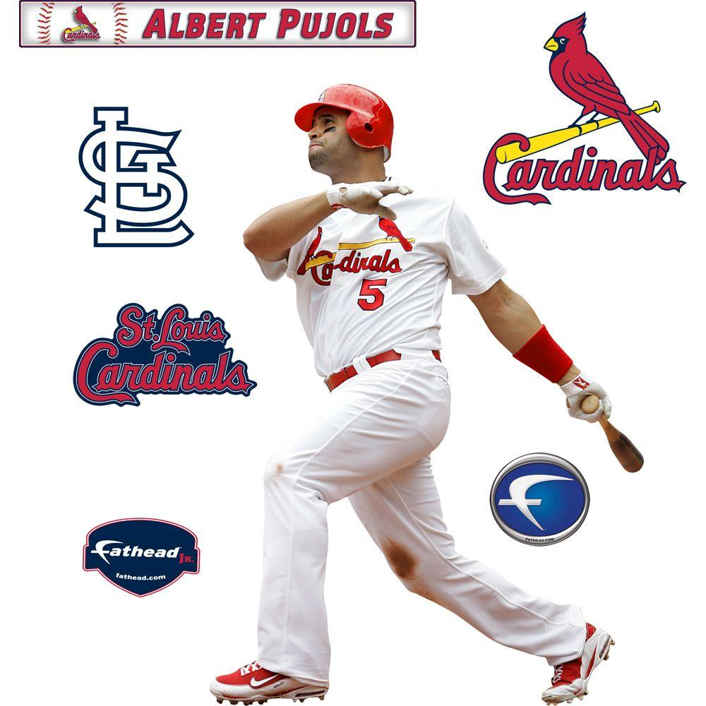 Fathead 22 in. x 32 in. Albert Pujols St. Louis Cardinals Wall Decal