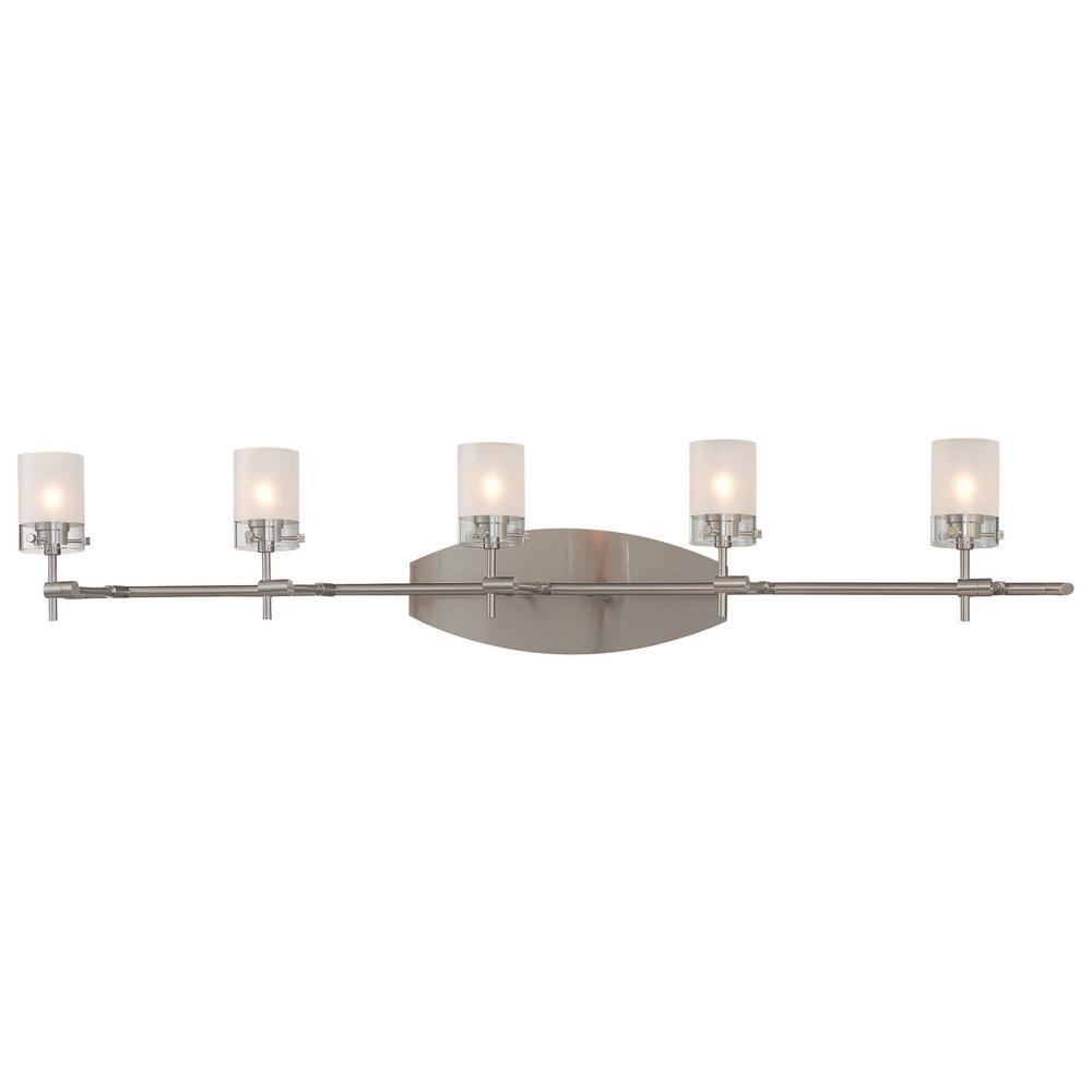 Progress Lighting Helium Collection 2 Light Brushed Nickel Bath Light P2901 09 The Home Depot