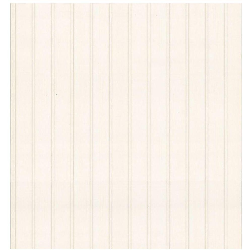 Bath Bath Bath III Beige Beadboard Wallpaper Sample