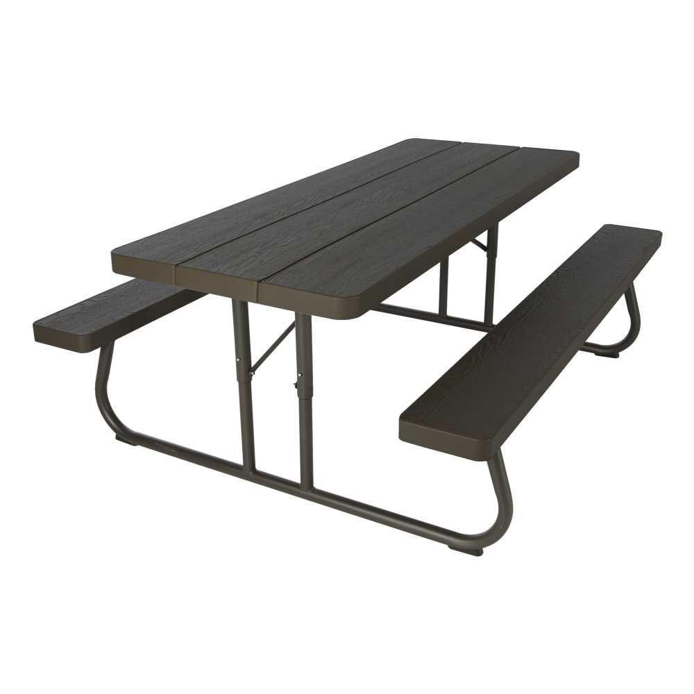 Lifetime Wood Grain Folding Picnic Table-60105 - The Home Depot