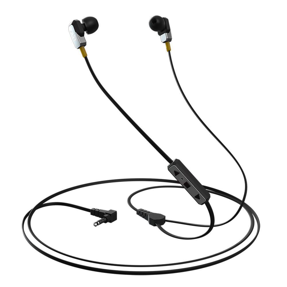 Active Urban IP54 Rugged Earphones, Silver/Gray