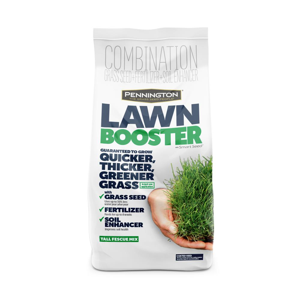 Pennington 9.6 lbs. Lawn Booster Tall Fescue with Smart Seed, Fertilizer and Soil Enhancers
