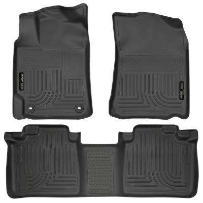 Front & 2nd Seat Floor Liners Fits 12-17 Camry