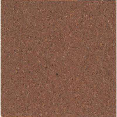 Take Home Sample - Imperial Texture VCT Cinnamon Brown Standard Excelon Commercial Vinyl Tile - 6 in. x 6 in.