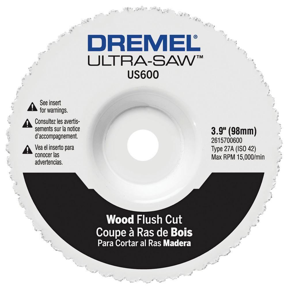Ultra-Saw 3.9 in. Wood and Plastic Flush Cut Wheel