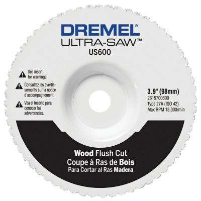 Ultra-Saw 3.9 in. Wood and Plastic Flush Cut Wheel