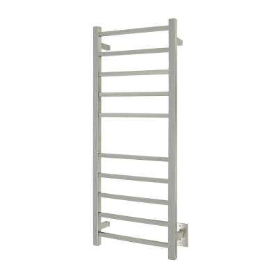 10-Bar Sydney Towel Warmer, Hardwired, Brushed Stainless Steel