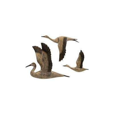 Geese Migration 3-Piece Wall Sculptures