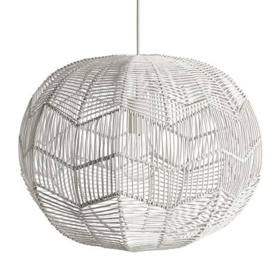 Byron 1-Light White Rattan Pendant