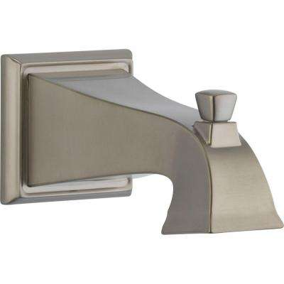 Dryden 7-1/2 in. Non-Metallic Pull-Up Diverter Tub Spout in Stainless