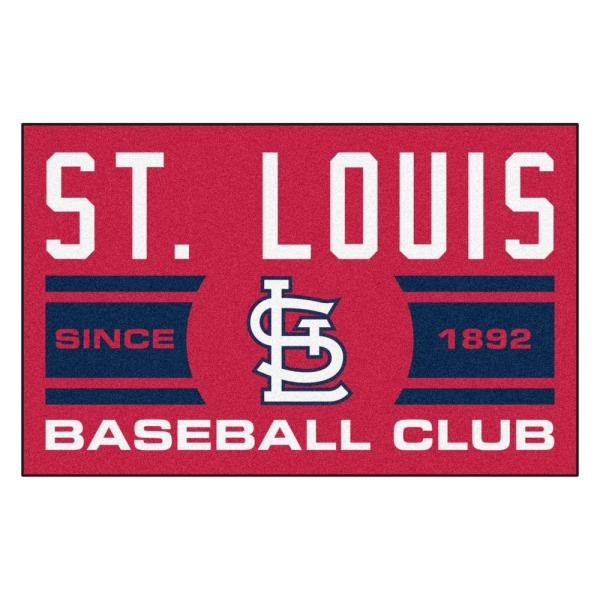 MLB St. Louis Cardinals Blue 2 ft. x 3 ft. Area Rug