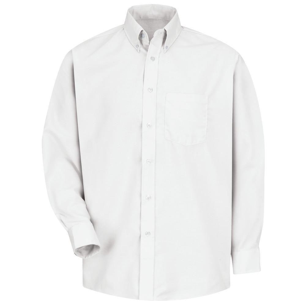Men's Size XL x 36/37 White Easy Care Dress Shirt