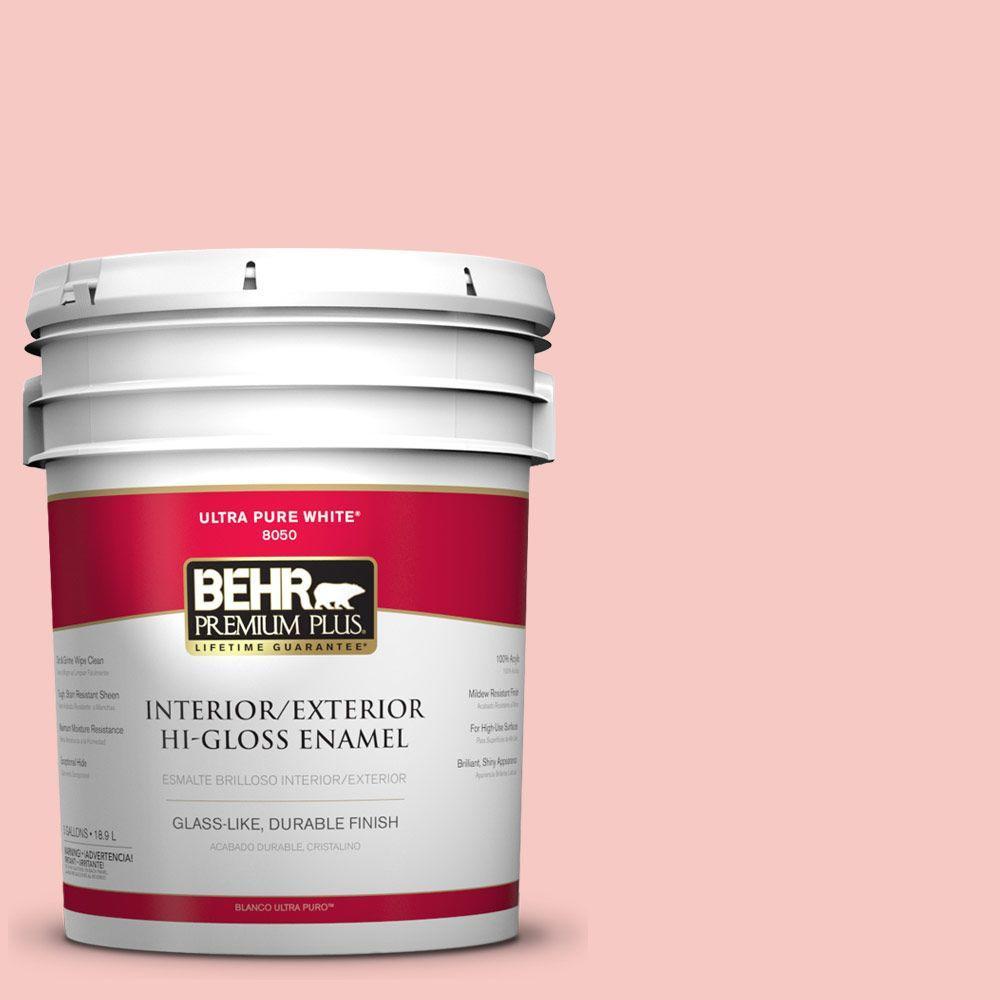 5-gal. #160C-2 Flush Pink Hi-Gloss Enamel Interior/Exterior Paint