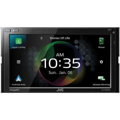 6.8 in. Double-DIN In-Dash Media Receiver with Bluetooth, Apple CarPlay, Android Auto and SiriusXM Ready