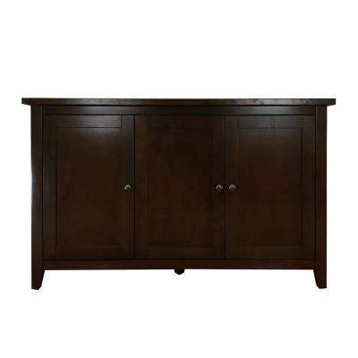 Brookdale Dark Walnut Accent Cabinet with 3-Doors