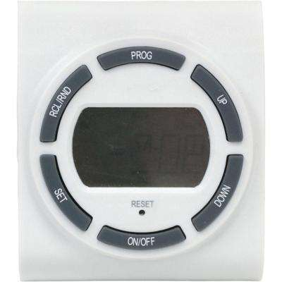 15 Amp 7-Day Plug-In 2-Outlet Digital Timer