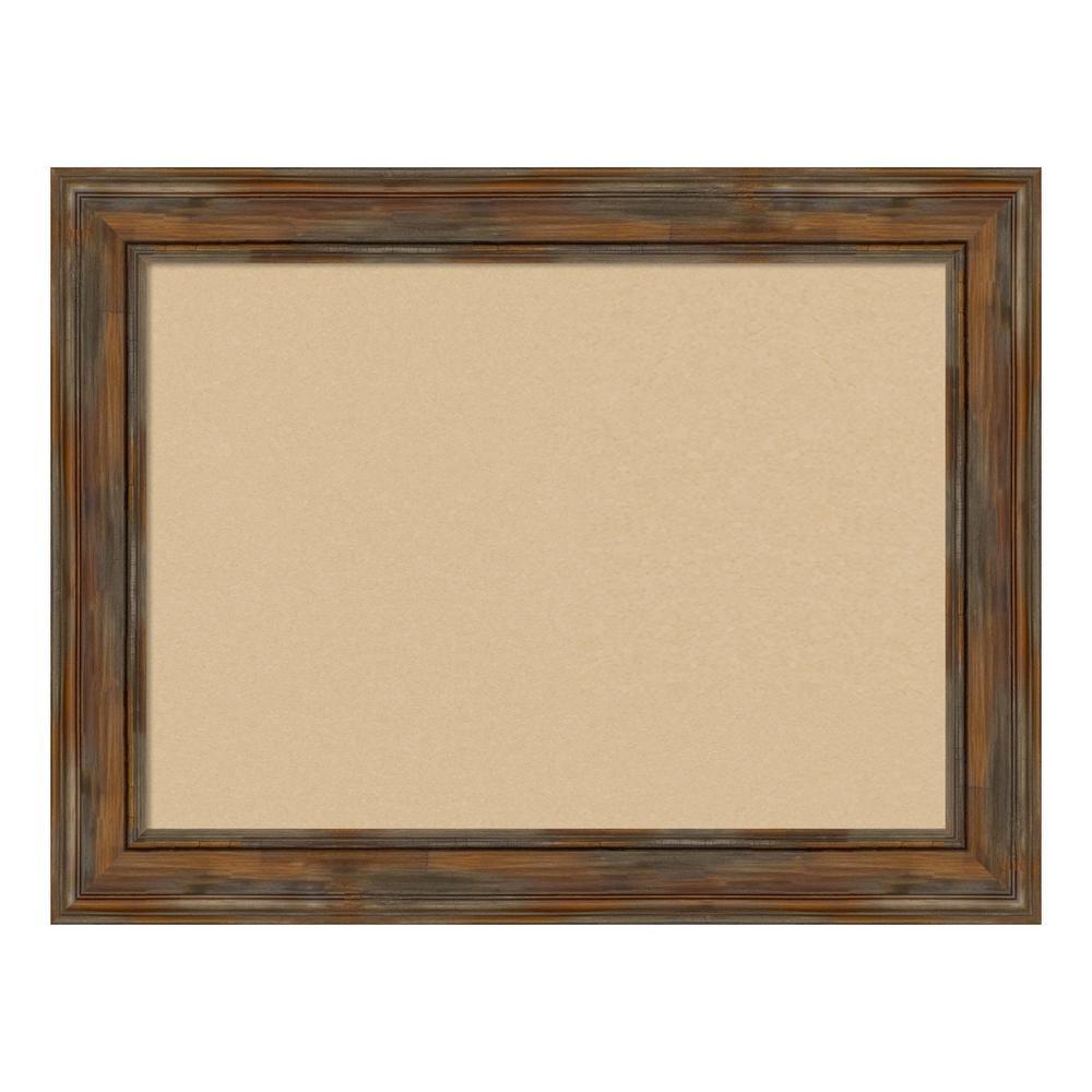 Alexandria Rustic Brown Framed Beige Cork Memo Board