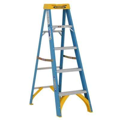 5 ft. Fiberglass Step Ladder with 250 lb. Load Capacity Type I Duty Rating