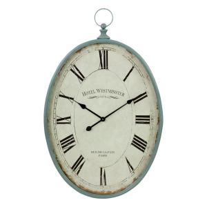 Sonia Blue Oval Wall Clock