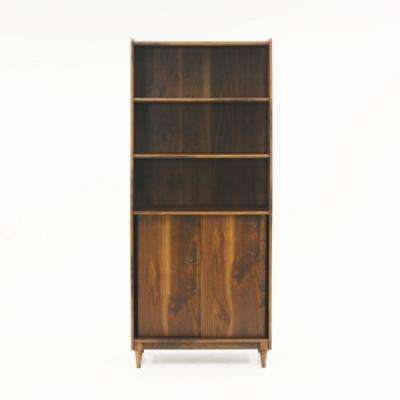 Harvey Park Grand Walnut Wide Bookcase
