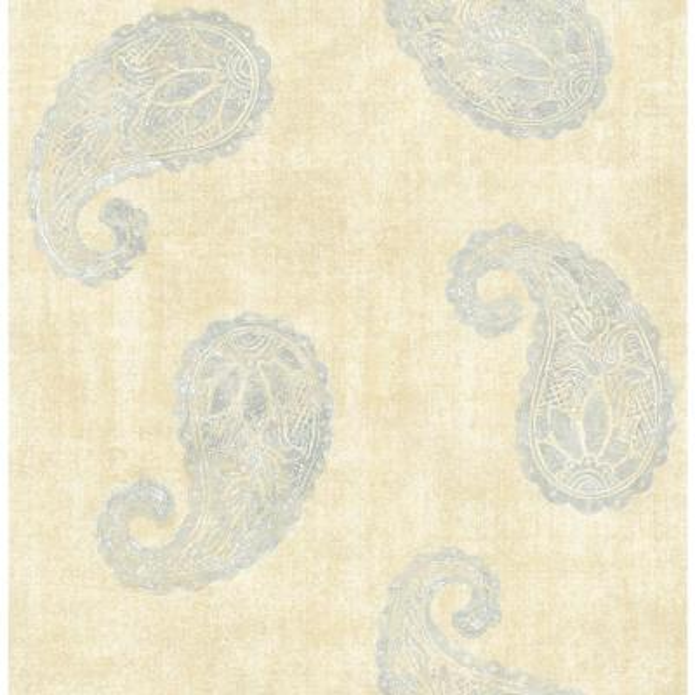 Kashmir Yellow Paisley Wallpaper Sample