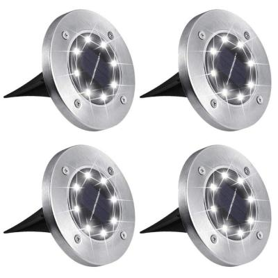 Solar Stainless Steel Clear Integrated LED Path Light (4-Pack)