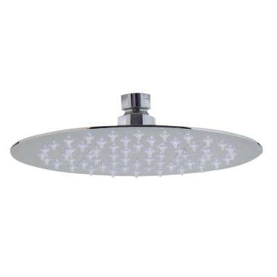1-Spray 8 in. Fixed Showerhead with Ultra Thin Design in Polished Stainless Steel