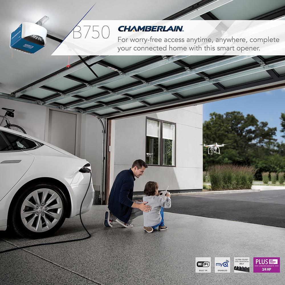 3/4 HP Equivalent Ultra-Quiet Belt Drive Smart Garage Door Opener