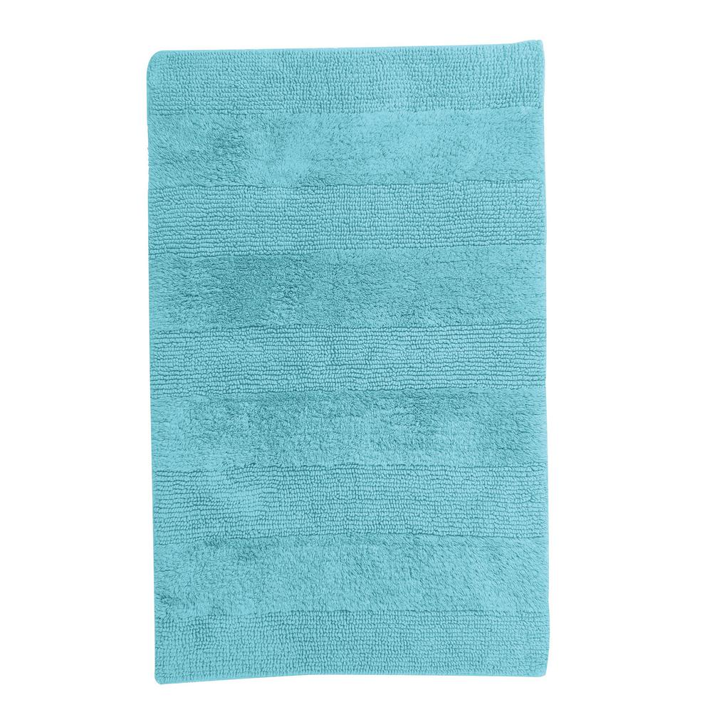 TheCompanyStore The Company Store Company Cotton Lagoon 21 in. x 34 in. Reversible Bath Rug