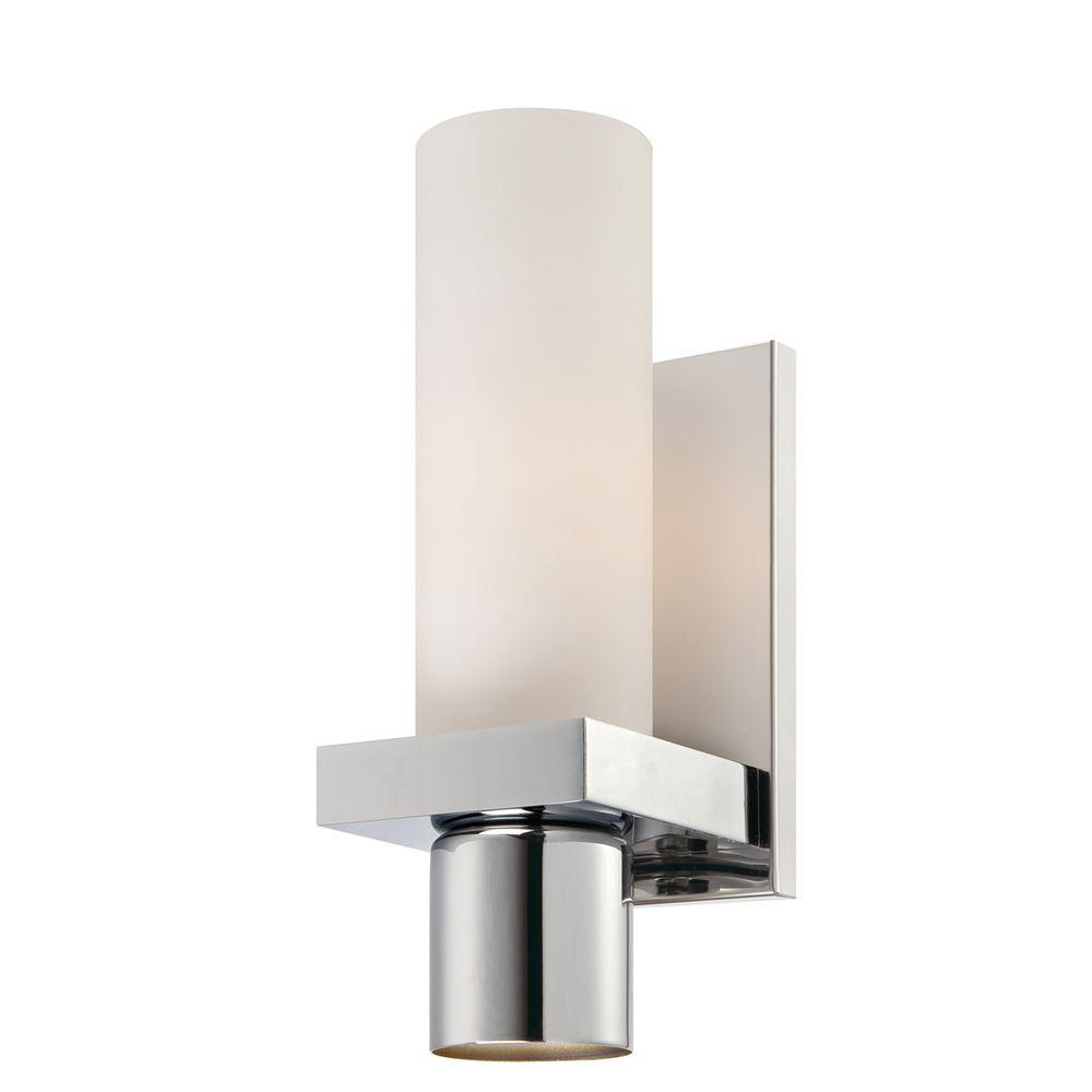Pillar Collection 2 Light Chrome Wall Sconce