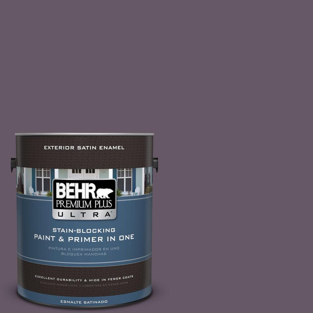 BEHR Premium Plus Ultra 1-gal. #PPU17-5 Preservation Plum Satin Enamel Exterior Paint