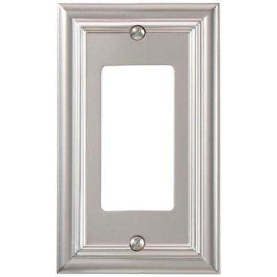 Continental 1 Decora Wall Plate - Satin Nickel