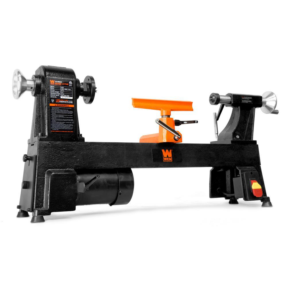WEN 4.5 Amp 12 in. x 18 in. 5-Speed Benchtop Wood Lathe