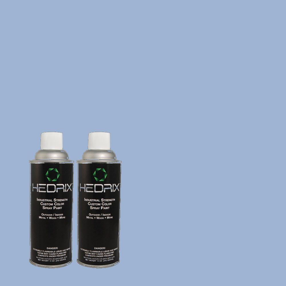Hedrix 11 oz. Match of 1A37-4 Blue Vapor Gloss Custom Spray Paint (2-Pack)