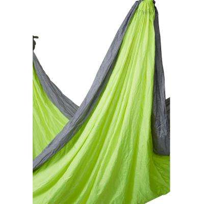 10 ft. Portable Nylon Camping Hammock Bed in Colibri Lime