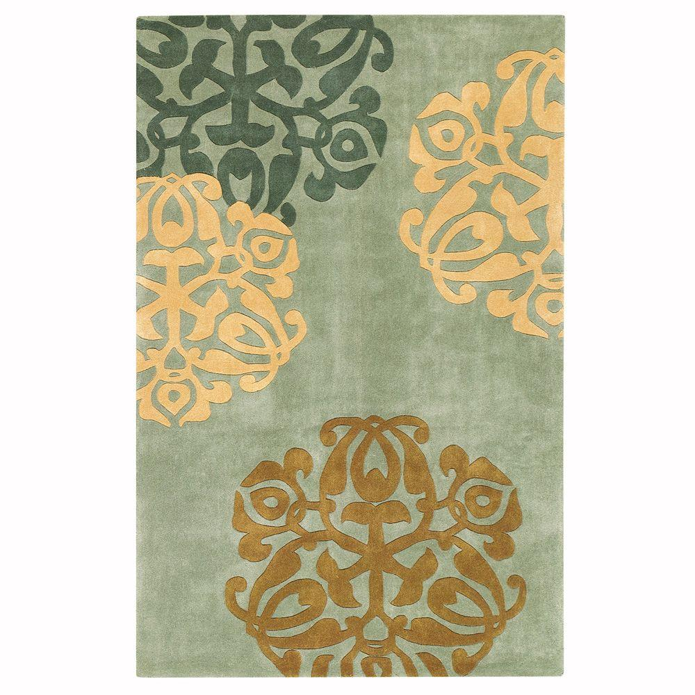 Home Decorators Collection Chadwick Light Green/Gold 1 ft. 9 in. x 2 ft. 9 in. Accent Rug