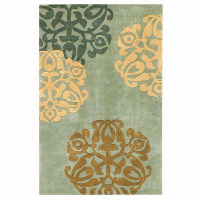 Chadwick Lite Green / Gold 5 ft. x 8 ft. Area Rug