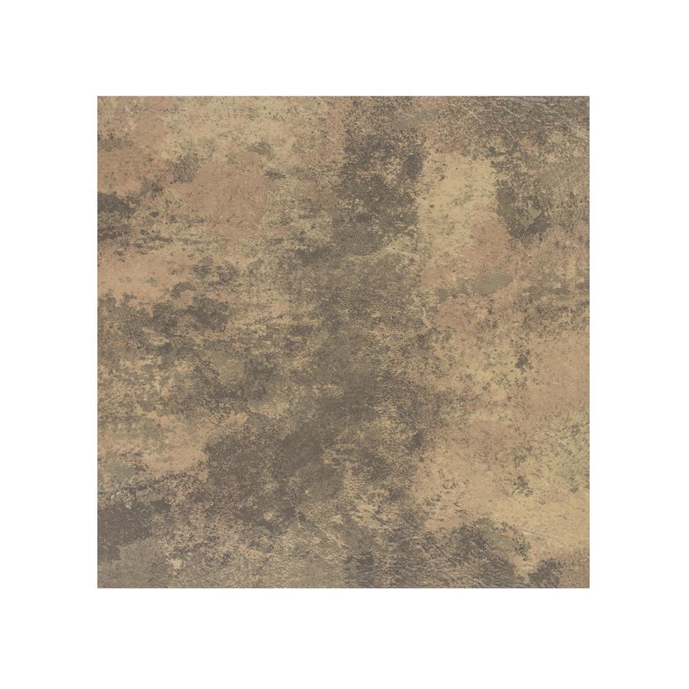 Portfolio Stone Travertine 12 in. x 12 in. Peel and Stick Vinyl Tile Flooring (9 sq. ft./case)