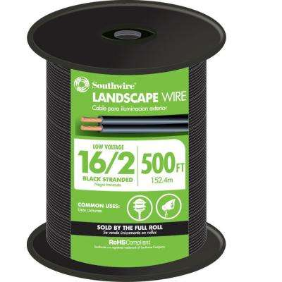 500 ft. 16/2 Black Stranded CU Landscape Lighting Cable