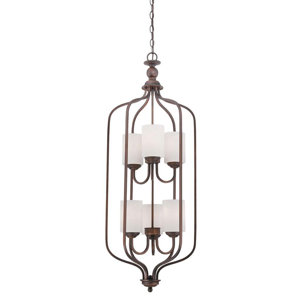 MILLENNIUM Lighting 6-Light Rubbed Bronze Pendant with Et...
