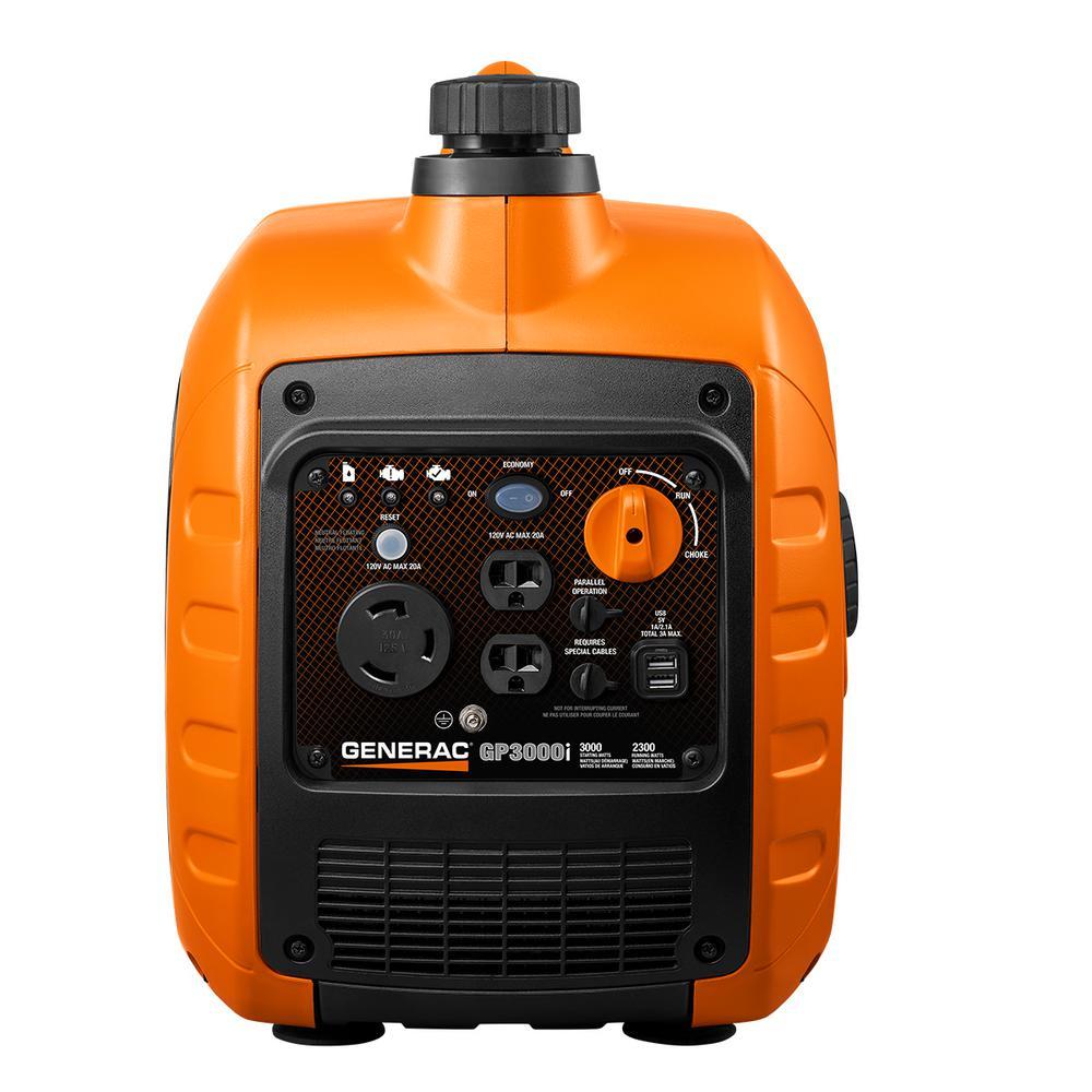 GP3000 3000-Watt Gasoline Powered Recoil Start Inverter Generator Super Quiet with PowerRUSH Technology - 50 State/CSA
