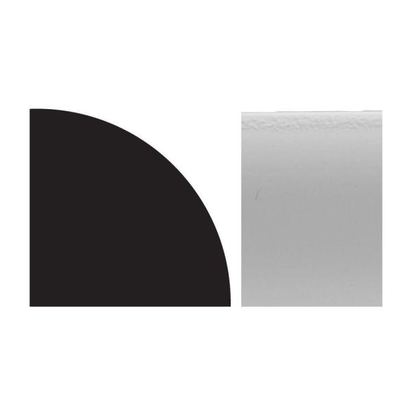 8 ft. x 1/2 in. x 1/2 in. Cellular Vinyl Composite Quarter Round Moulding