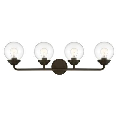 Knoll 4-Light Oil Rubbed Bronze Bath Bar Vanity Light