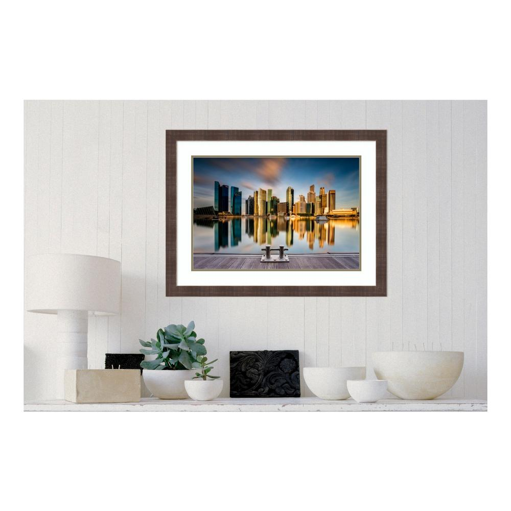 Amanti Art 33 in. W x 25 in. H 'Golden Morning In Singapo...