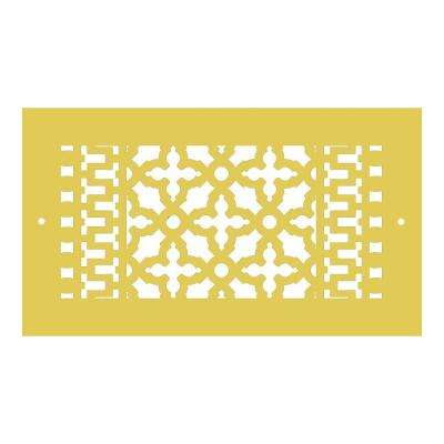 Scroll Series 12 in. x 6 in. Aluminum Grille, Sun Gold with Mounting Holes
