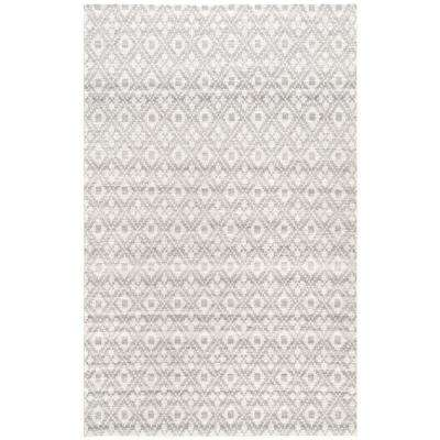 Diamond Trellis Ayesha Grey 7 ft. 6 in. x 9 ft. 6 in. Area Rug