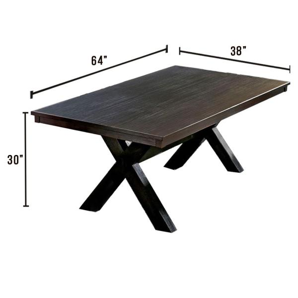Xanthe Black Transitional Style Dining Table