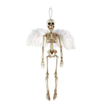 18.5 in Hanging Skeleton with White Wings