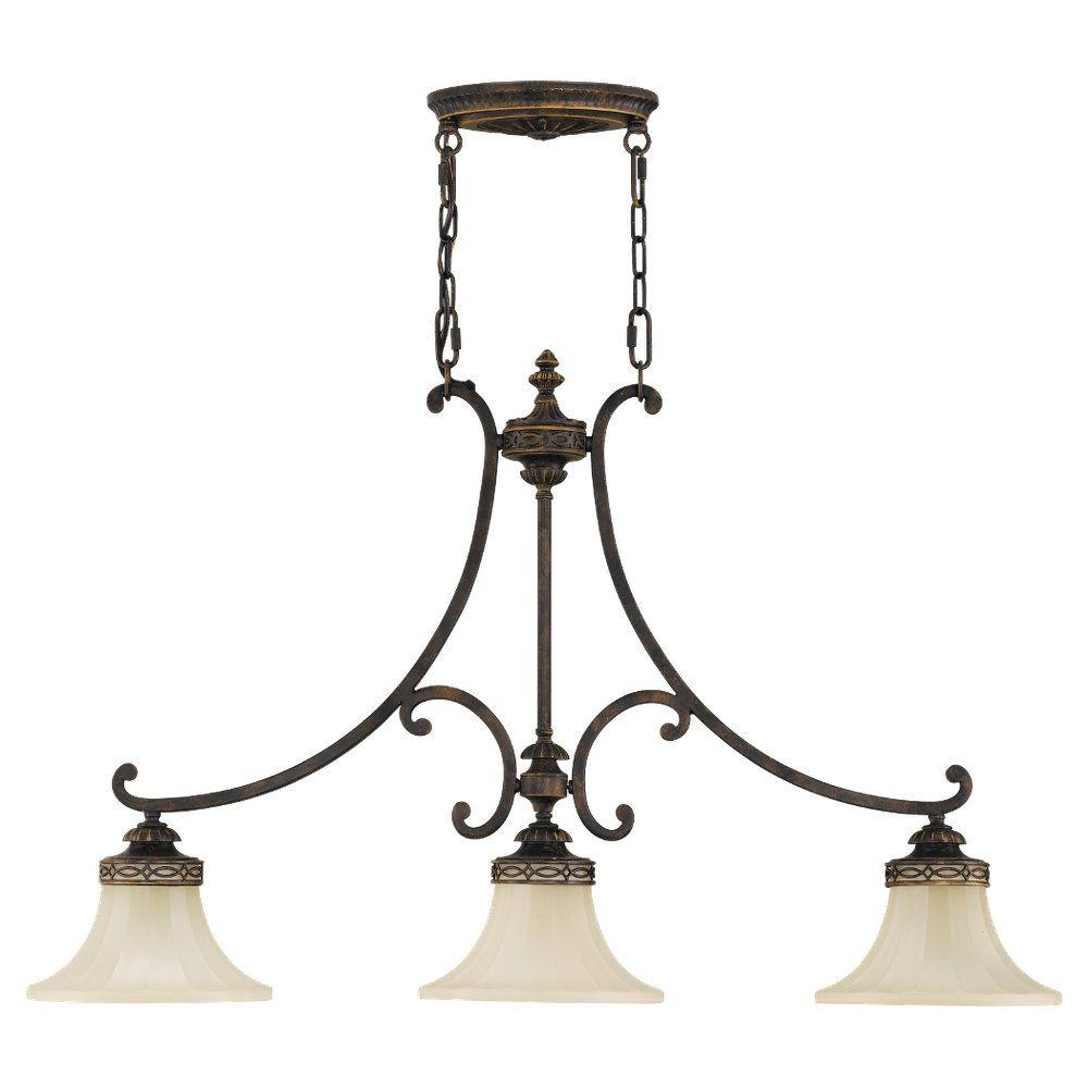 Hampton Bay Reims 5-Light Berre Walnut Chandelier-17265 - The Home ...